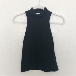 UO Truly Madly Deeply black high-neck tank top